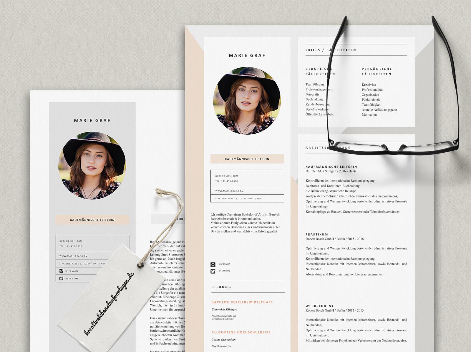 Kreative Lebenslaufvorlagen Und Bewerbungsunterlagen